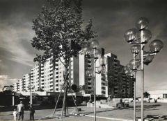 Heidersberger, Heinrich. 1906 Ingolstadt - 2006 Wolfsburg. Lot von 8 Bll. Architektur-Fotografie,
