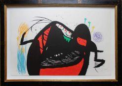 Joan Mirò (1893 - 1983) L'Aieule des 10000 âges 1976 Farblithografie auf Velin Signiert Exemplar H.