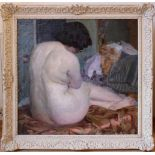 Hugo Bernard Rückenakt 1913 Öl auf Leinwand Signiert und datiert 76 x 78 cm