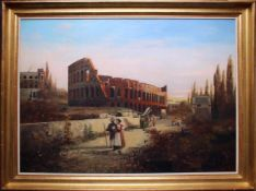 Robert Alott (1850 - 1910) Kolosseum Öl auf Leinwand Signiert, kleine Farbabsplitterung links oben