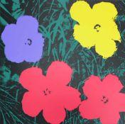 Andy Warhol(1928 - 1987)FlowersSiebdruck auf MuseumskartonStempel rückseitig, Sunday B. Morning