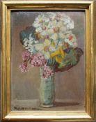Rudolf Raimund Ballabene (1890 - 1968) Blumenstillleben Öl auf Karton Signiert 41 x 31 cm