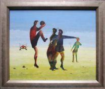Heinrich Sussmann (1904 - 1986) Fußballspiel 1948 Mischtechnik auf Papier Signiert und datiert 25,