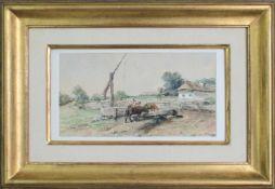 Julius von Blaas(1845 - 1922)An der TränkeAquarell auf Papiersigniert15 x 27 cm
