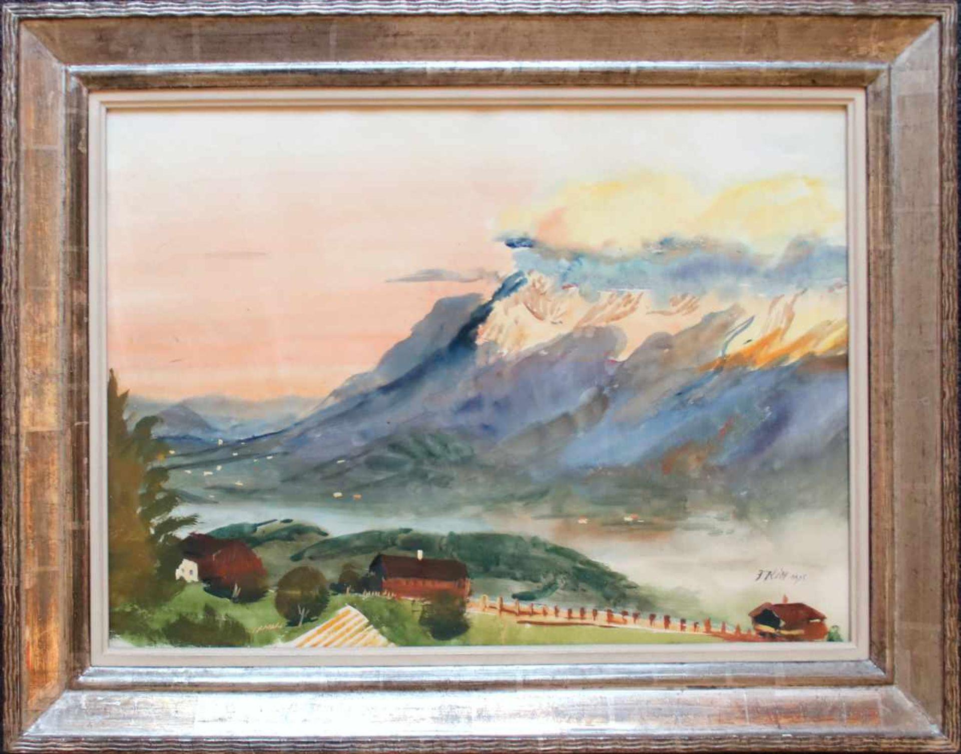Ferdinand Kitt (1887 - 1961) Im Salzkammergut 1925 Aquarell auf Papier Signiert und datiert 37,5 x