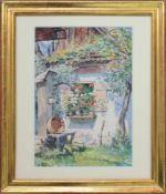 Liesl Knzel (1886 - 1961) Motiv aus der Wachau Aquarell auf Papier Signiert 29 x 21 cm