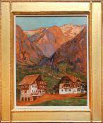 Adolf Helmberger (1885 - 1967) Abendröte Öl auf Karton Signiert 33 x 26 cm