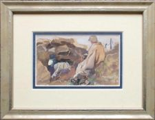 Carl Fahringer(1874 - 1952)MontecelliAquarell auf PostkarteSigniert und betitelt9 x 15 cm