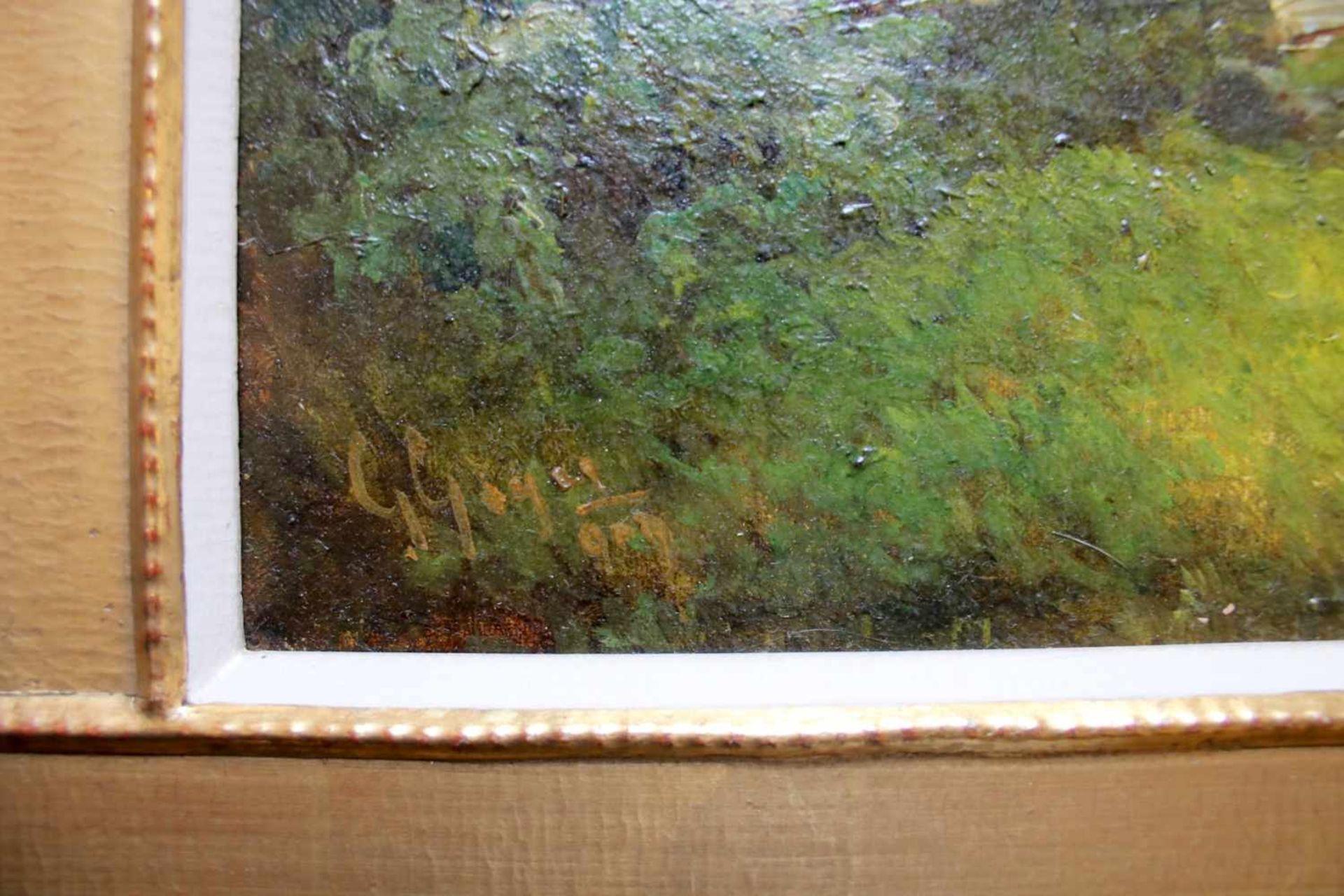 Georg Geyer (1823 - 1912) Blick aus Saalfelden Öl auf Leinwand Signiert 66 x 53 cm - Bild 2 aus 2