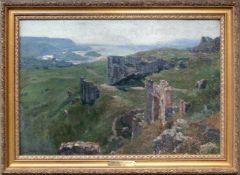 Max Suppantschitsch (1885 - 1953) Ruine Öl auf Leinwand auf Platte signiert 54 x 37 cm