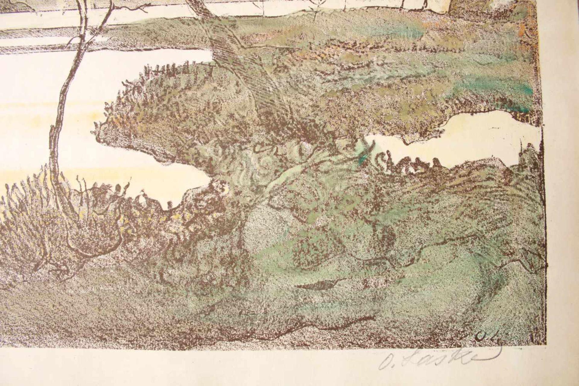 Oskar Laske(1874 - 1951)In Lunca Siretului (Auf der Wiese des Siret)Farblithographie, - Bild 2 aus 2
