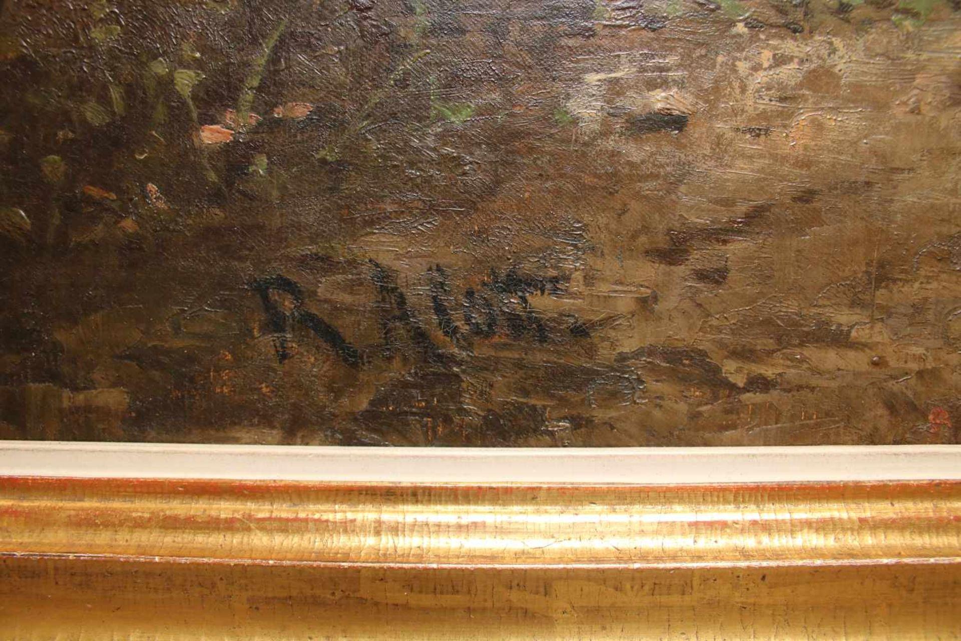 Robert Alott (1850 - 1910) Kolosseum Öl auf Leinwand Signiert, kleine Farbabsplitterung links oben - Bild 2 aus 2