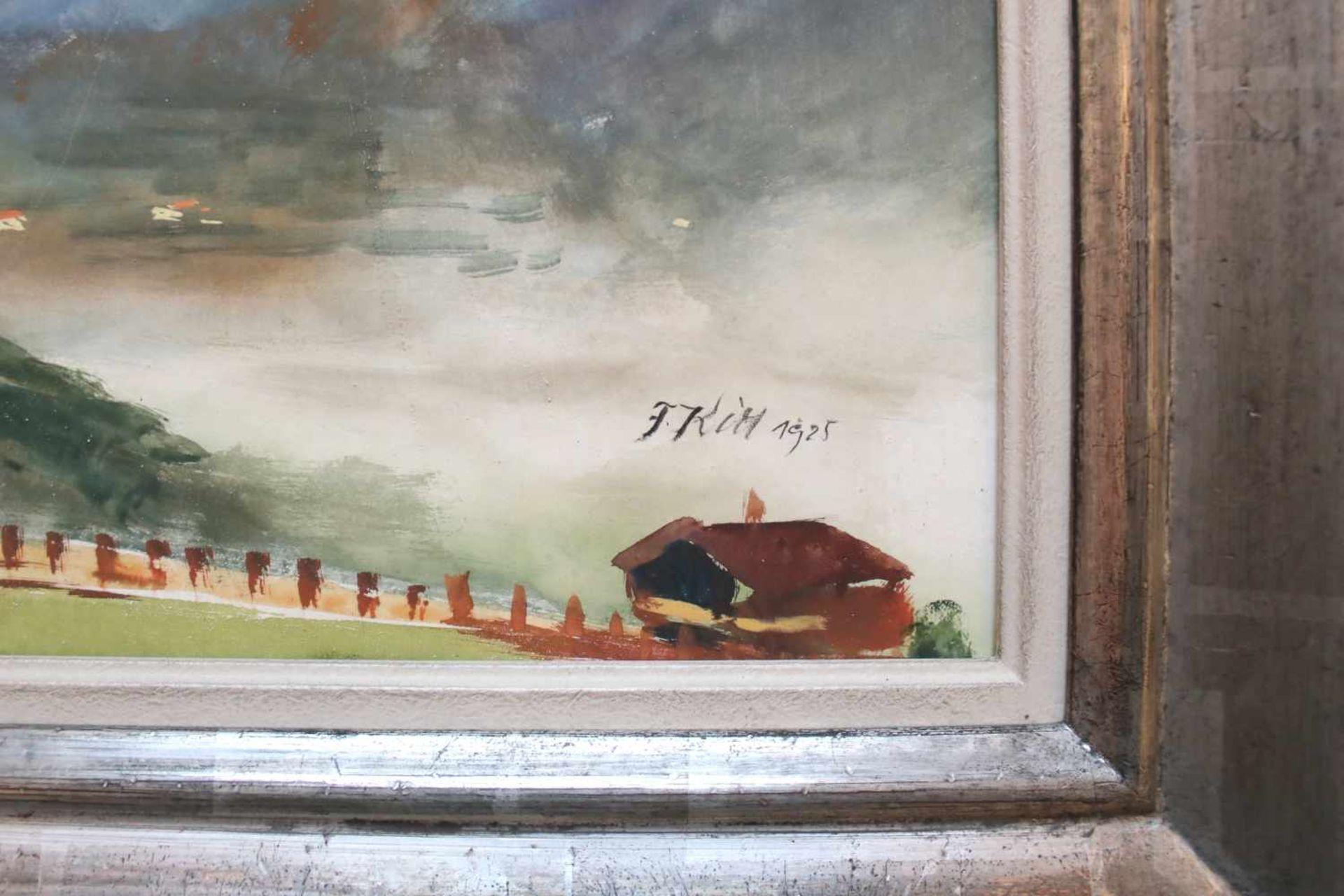 Ferdinand Kitt (1887 - 1961) Im Salzkammergut 1925 Aquarell auf Papier Signiert und datiert 37,5 x - Bild 2 aus 2