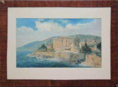 Konrad Petrides(1864 - 1943)Kroatische KüsteAquarell, Deckweiß gehöhtSigniert18 x 30 cm