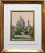 Paul Kaspar (1891 - 1953) Karlskirche Aquarell auf Papier Signiert 22 x 16 cm