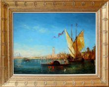 Alfred August Felix Bachmann (1863 - 1956) Blick auf Venedig Öl auf Leinwand Signiert 51 x 74 cm