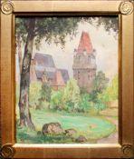 Georg Janny (1864 - 1946) Perchtoldsdorf Aquarell auf Papier Signiert 22 x 18,5 cm