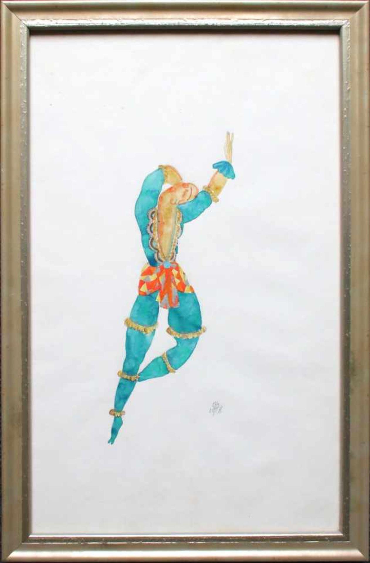 Julius Zimpel (1896 - 1925) Tänzer 1918 Aquarell auf Papier Monogrammiert und datiert 34 x 22 cm