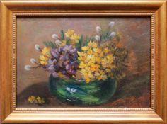 Camilla Göbl-Wahl(1871 - 1965)BlumenstilllebenÖl auf KartonSigniert15,5 x 22 cm