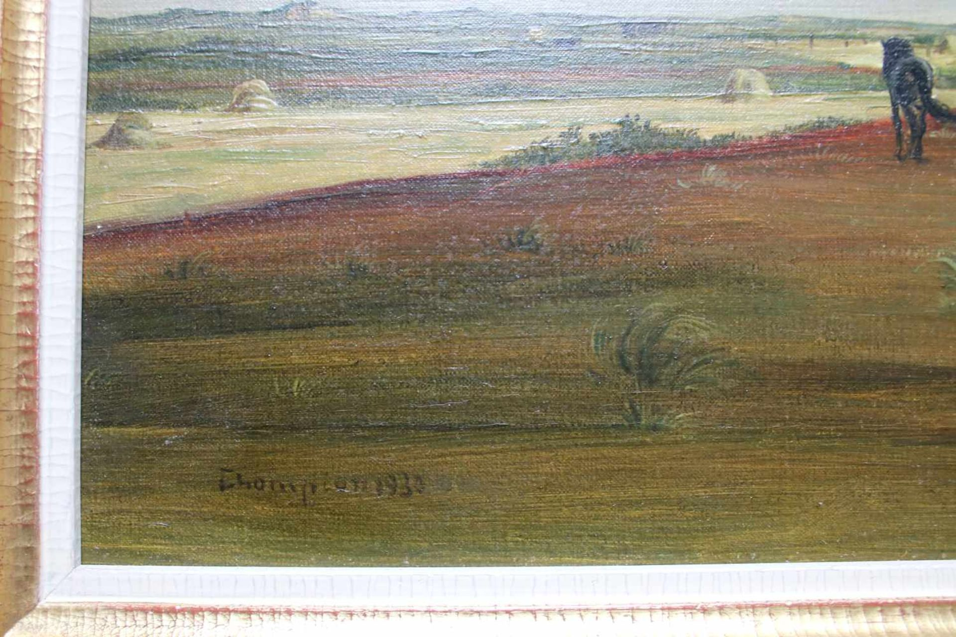 Theo Champion (1887 - 1952) Feldarbeit 1930 Öl auf Leinwand Signiert und datiert 42 x 54,5 cm - Bild 2 aus 2