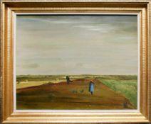 Theo Champion (1887 - 1952) Feldarbeit 1930 Öl auf Leinwand Signiert und datiert 42 x 54,5 cm