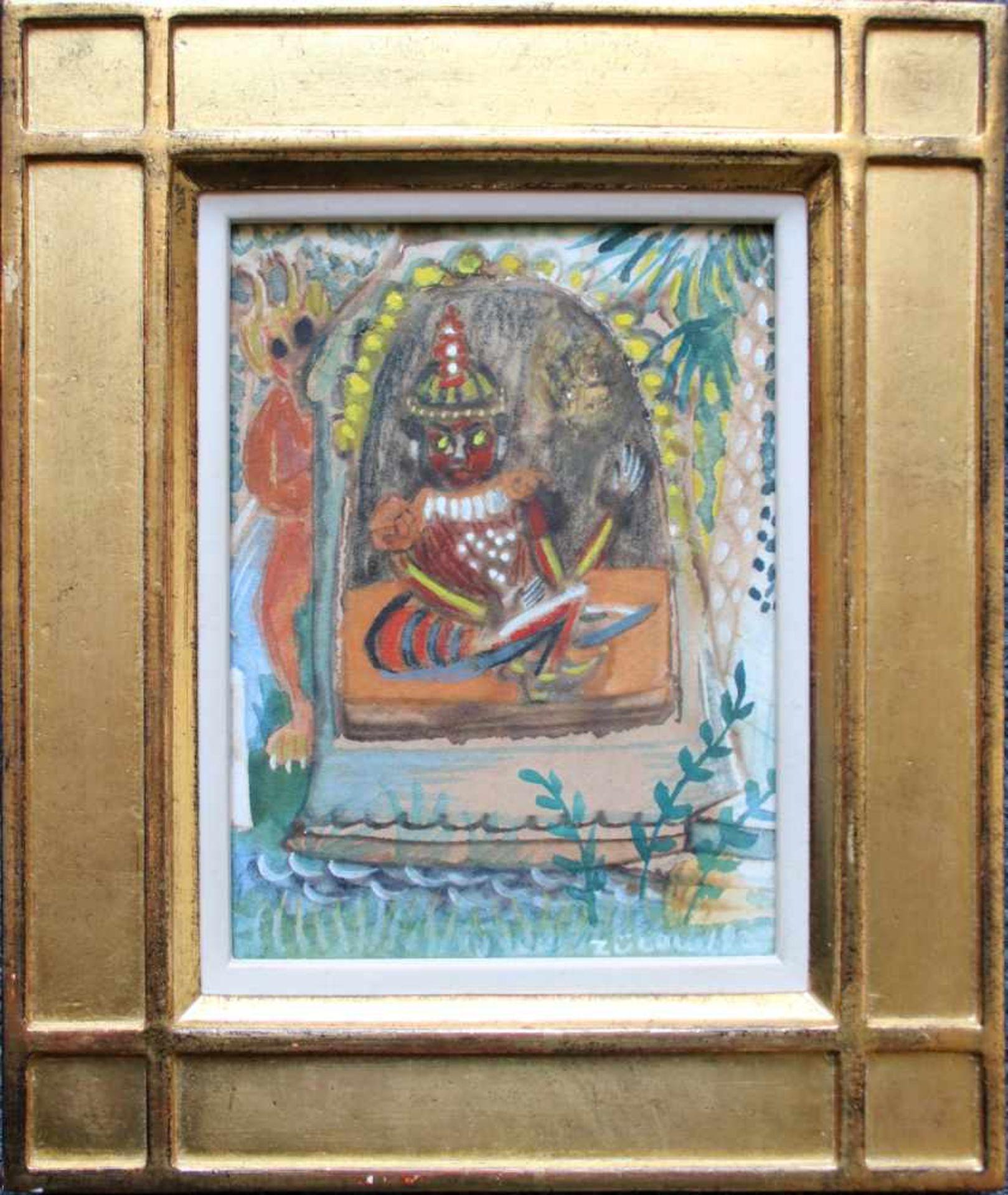 Franz von Zülow (1883 - 1963) Inder 1920 Mischtechnik auf Papier Signiert und datiert 16,5 x 12,5
