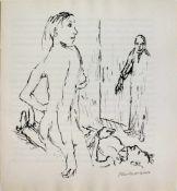 Oskar Kokoschka (1886 - 1980)Reed sieht die nackte Ann Eliza vor sich, die den Arzt Glasberg getötet