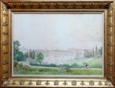 Thomas Ender (1793 - 1875) Palazzo Pitti in Florenz 1819 Aquarell auf Papier Signiert und datiert