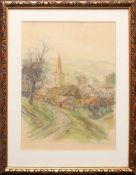 Leo Adler (1897 - 1987) Gallspach Aquarell auf Papier Signiert 33 x 24 cm