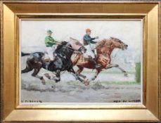 Carl Franz Bauer (1879 - 1954) Prix Du Limousin Öl auf Karton Signiert und betitelt 31 x 43 cm