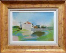 Lois Pregartbauer (1899 - 1971) An einem Weiher Pastell auf Papier Signiert 29 x 42 cm