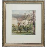Franz Barbarini(1804 - 1873)Gutshof1837Aquarell auf PapierSigniert und datiert22 x 21 cm