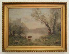 Maurice Levis (1860 - 1940) Ohne Titel Öl auf Platte handsigniert 30 x 39,5 cm