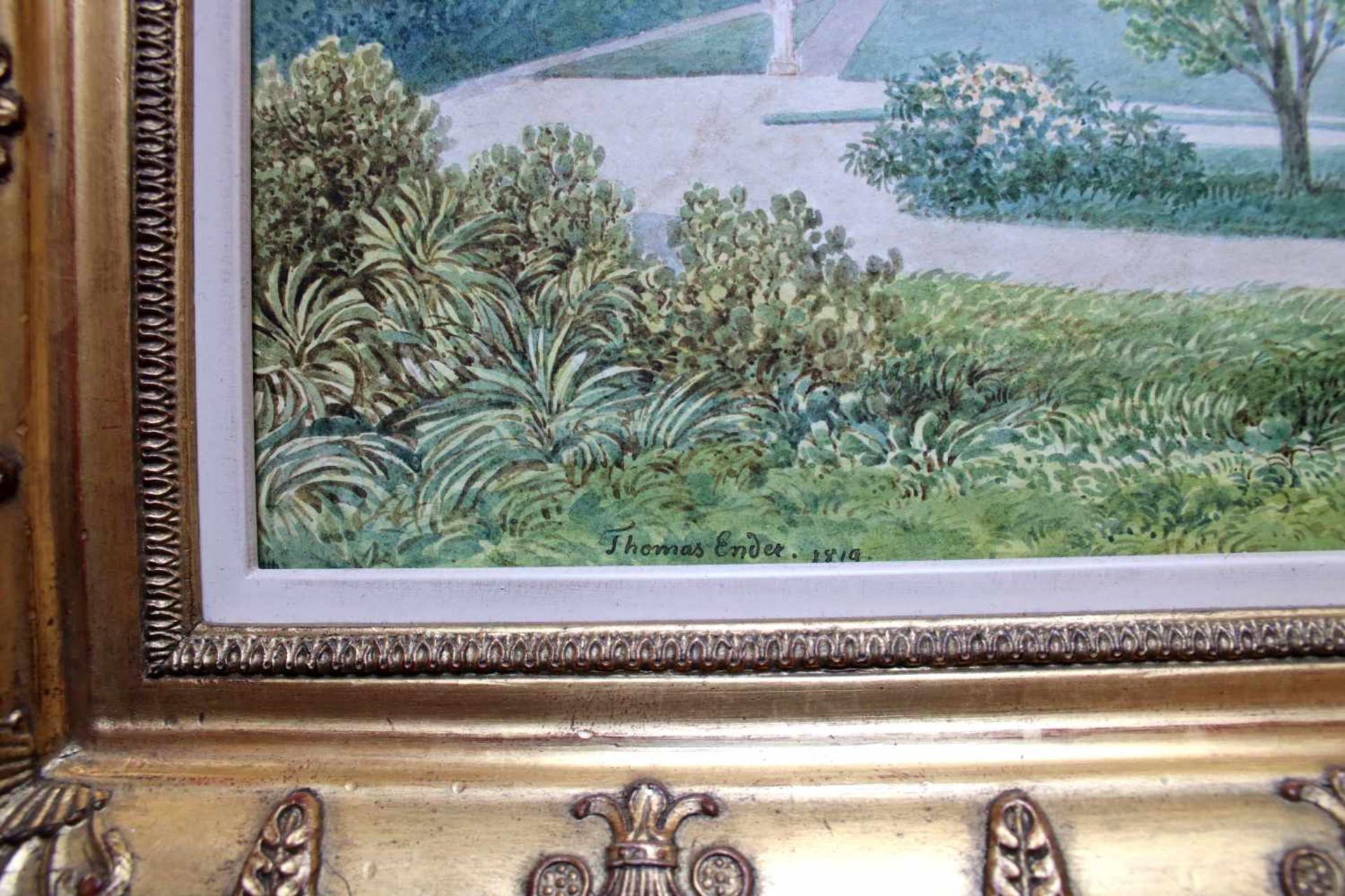 Thomas Ender (1793 - 1875) Palazzo Pitti in Florenz 1819 Aquarell auf Papier Signiert und datiert - Bild 2 aus 2