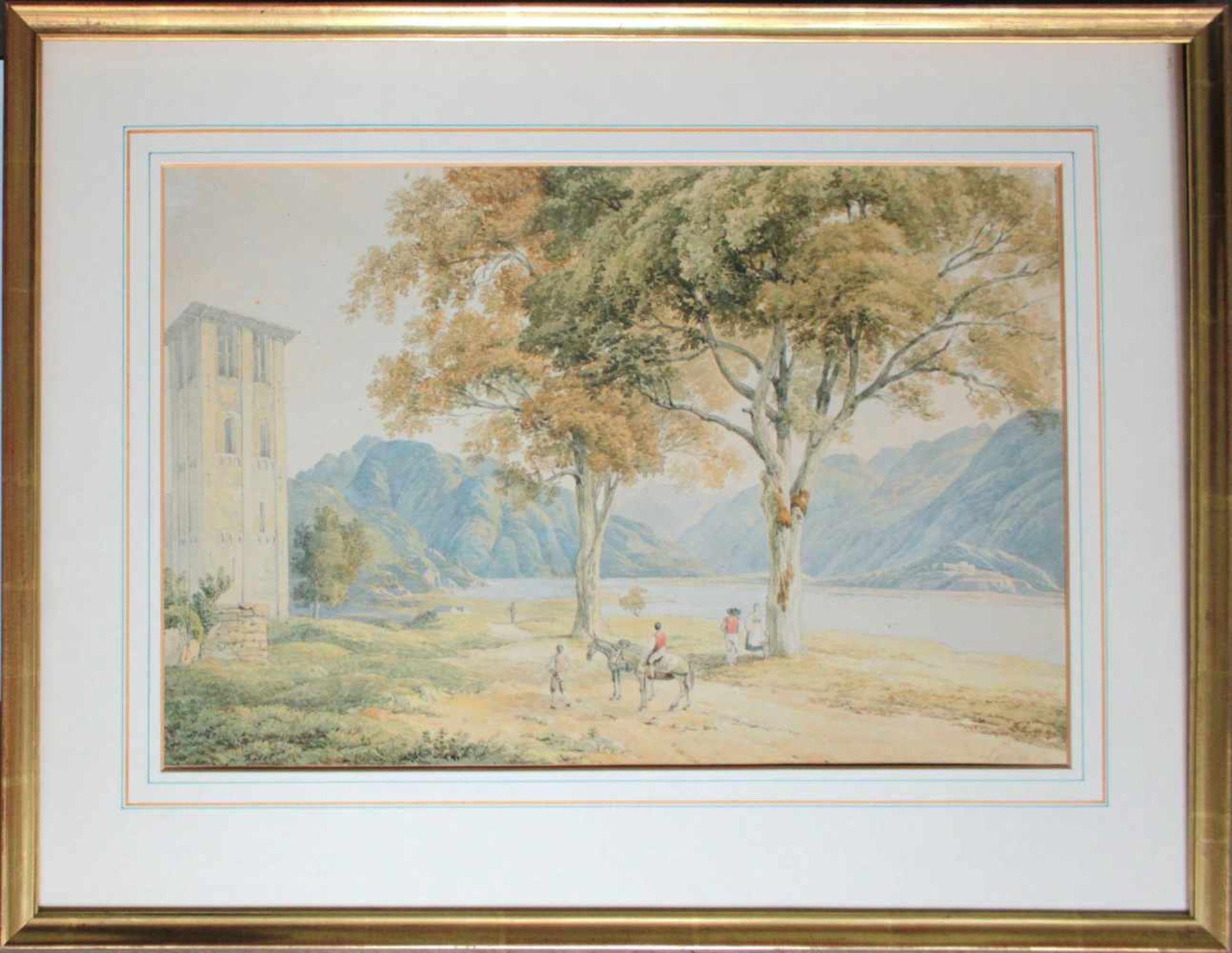 Joseph Höger(1801 - 1877)EisgrubeAquarell auf PapierSigniert30 x 44 cm