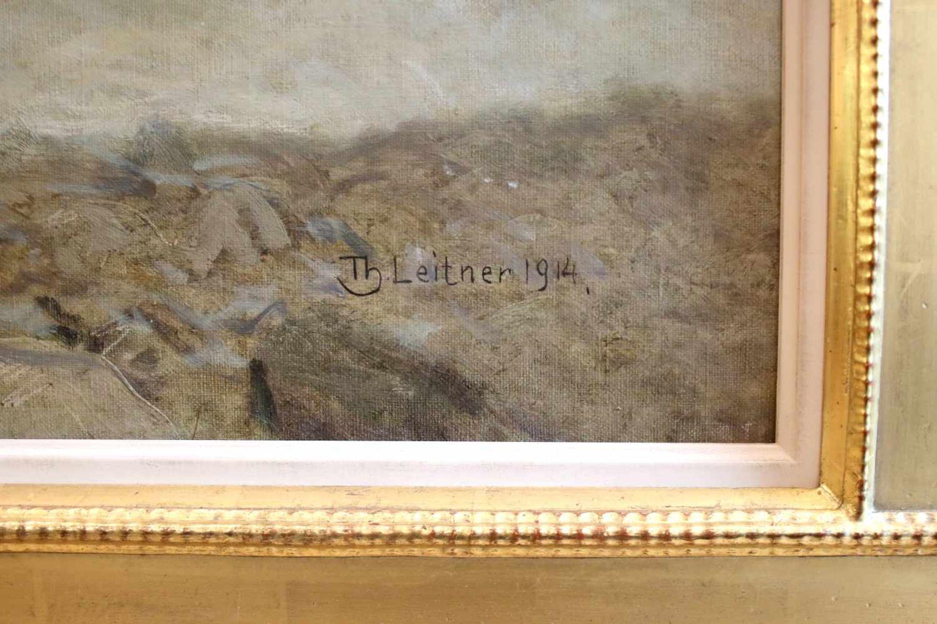 Thomas Leitner (1876 - 1948) Küste vor Triest 1914 Öl auf Leinwand Signiert, datiert und betitelt - Bild 2 aus 3