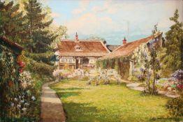 Friedrich Frank (1871 - 1945) Haus in Breitenweida Aquarell auf Papier Signiert 33 x 49 cm