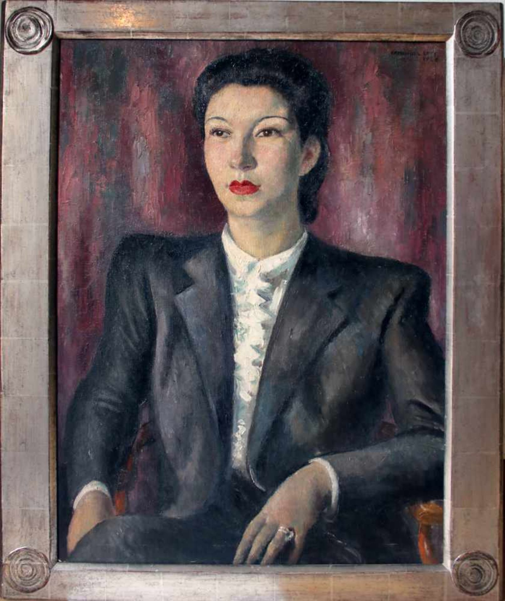 Emmanuel Levy (1900 - 1986) Portrait einer Dame 1926 Öl auf Leinwand Signiert und datiert 73,5 x