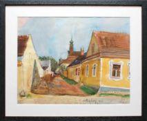 Ernst Schrom (1902 - 1969) Pettendorf in Niederösterreich 1963 Aquarell auf Papier Signiert,