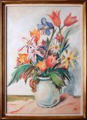 Otto Rudolf Schatz (1900 - 1961) Blumen in Vase Aquarell auf Papier Monogrammiert 67,5 x 47,5 cm