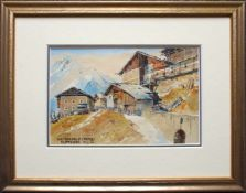 Rudolf Preuss (1879 - 1961) Bei Seefeld (Reith) 1932 Aquarell auf Papier Signiert, datiert und