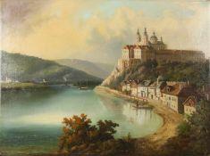 """Ferdinand Lepie(1824 - 1883)""""Stift Melk""""Öl auf LeinwandSigniert44 x 60 cm- - -22.00 % buyer's"""