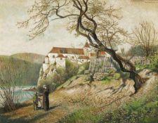 """Rudolf Weber(1872 - 1949)""""Schönbühel in der Wachau""""1908Tusche und Aquarell auf PapierSigniert,"""