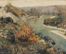 """Anton Peschka(1885 - 1940)""""Dürnstein in der Wachau""""Aquarell auf PapierSigniert, gerahmt22 x 27 cm- -"""