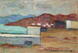 "Egon Hofmann(1884 - 1972)""La Tenosa""1967Öl auf PlatteSigniert, datiert und betitelt, gerahmt35 x"