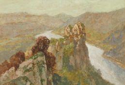 """Georg Janny(1864 - 1935)""""Ruine Aggstein in der Wachau""""Mischtechnik auf PapierSigniert, gerahmt21 x"""