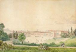 """Thomas Ender(1793 - 1875)""""Palazzo Pitti in Florenz""""1819Aquarell auf PapierSigniert und datiert,"""