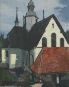 """Artur Nikodem(1870 - 1940)""""Kirche""""1939Gouache auf PapierSigniert und datiert, gerahmt24 x 29"""