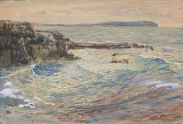 """Hugo Charlemont(1850 - 1939)""""Brioni""""Aquarell auf PapierSigniert und betitelt, gerahmt14 x 20"""