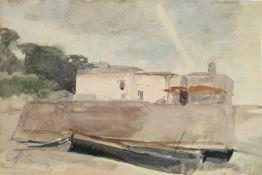 """Marie Egner(1850 - 1940)""""Anlegestelle""""1909Aquarell auf PapierSignaturstempel und datiert,"""